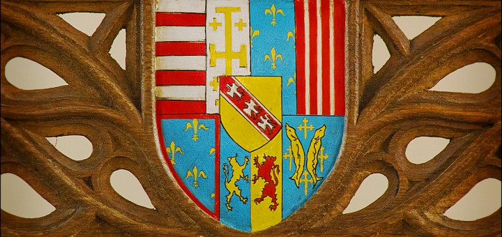 Coat of Arms from the Queen's Chair in the Great Hall, Stirling Castle by dun_deagh, on Flickr. CC Image, Some rights reserved