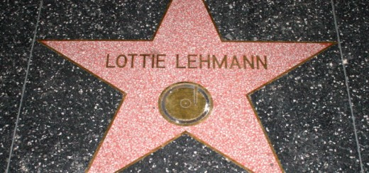 "Lotte Lehmann by ""Caveman Chuck"" Coker, on Flickr. CC Image, Some rights reserved Lotte Lehmann's star on the Hollywood Walk of Fame is one of several that misspell their subjects' name."