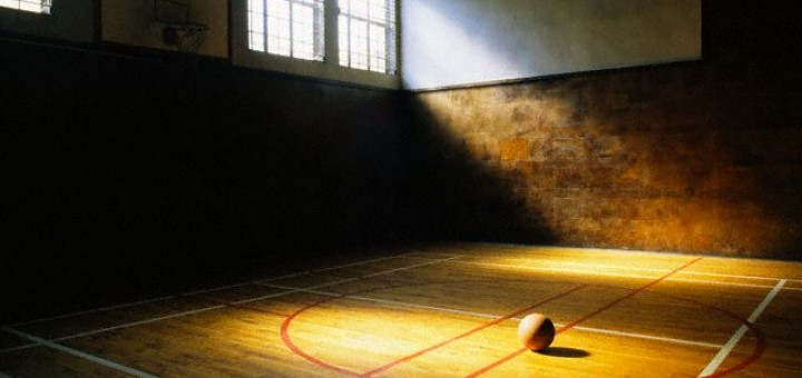 Abstract -  ca. 2002 --- Basketball on Vacant Basketball Court --- Image by © Ellen H. Wallop/CORBIS  CSM002210 by j9sk9s, on Flickr. CC Image, Some rights reserved