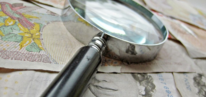 British Money and magnify glass by Images Money, on Flickr. CC Image, Some rights reserved